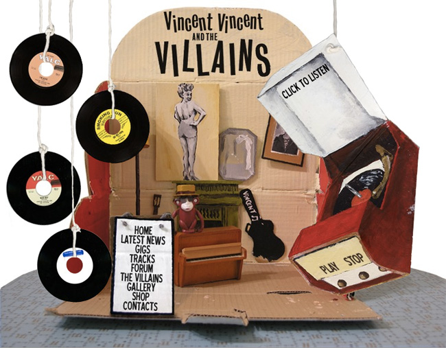 Vincent Vincent and the Villains website tracks page