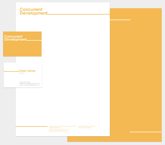 Concurrent Development stationery set
