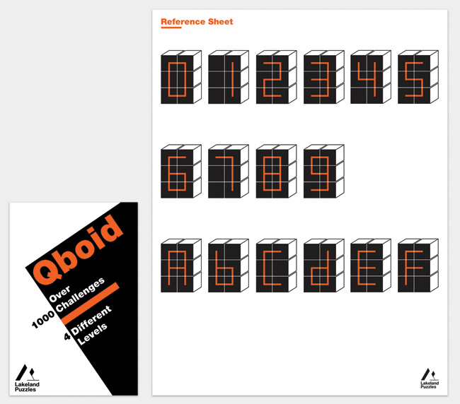 Qboid leaflet front and reference sheet