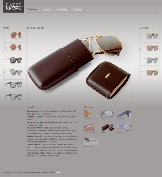 Finest Seven product page with element image selected