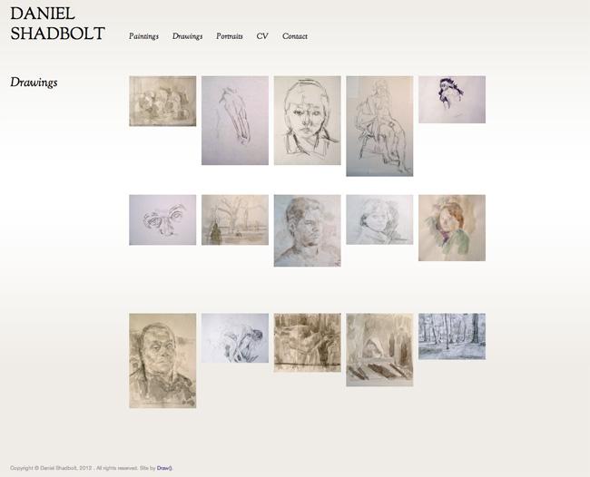 Daniel Shadbolt - Drawings