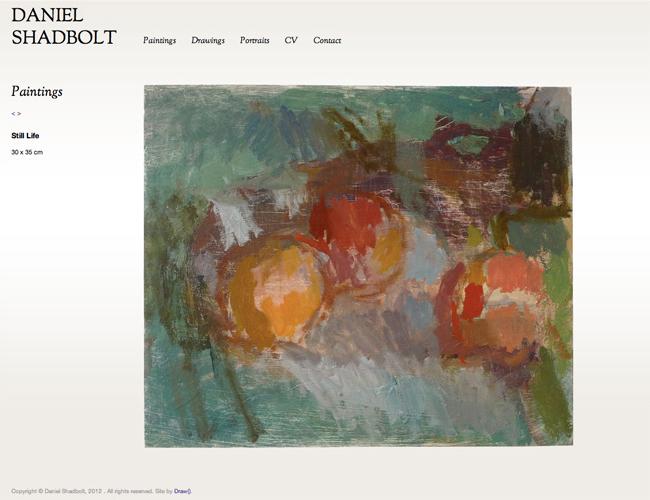 Daniel Shadbolt - example work page
